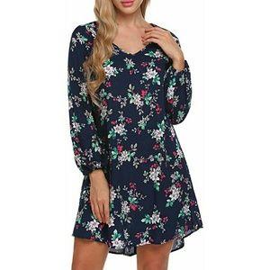 Dresses & Skirts - New Floral Print Open Back Flowy Summer Dress XL